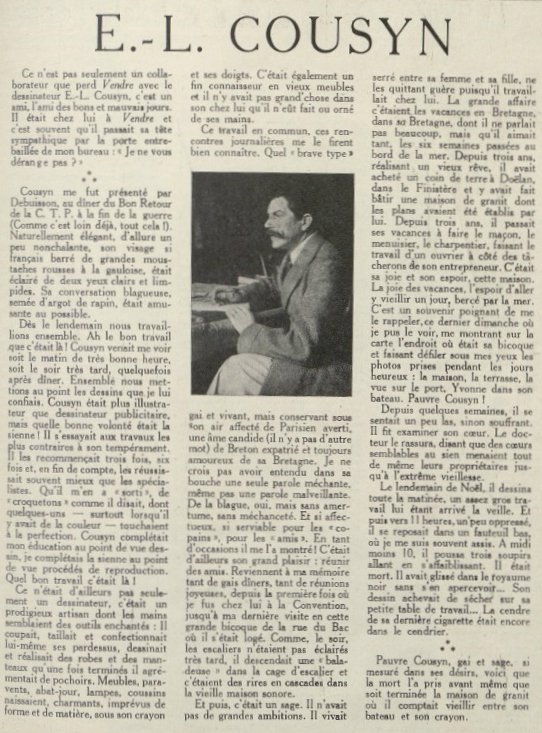 COUSYN Revue Vendre n°39 1927 page 27