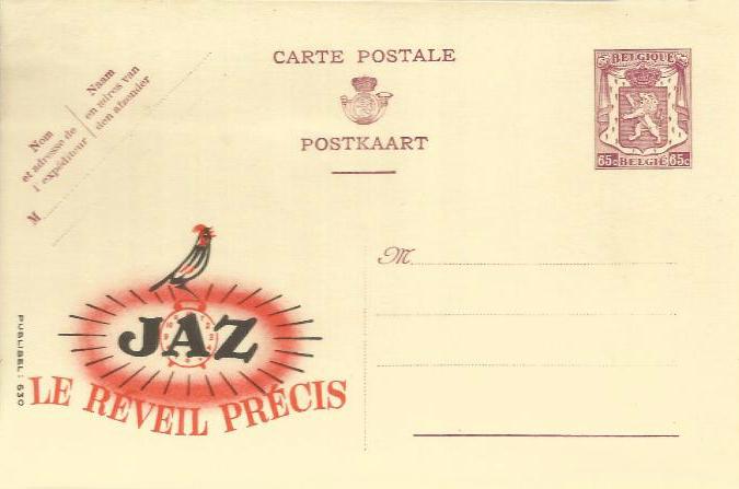 entier postal Jaz belge
