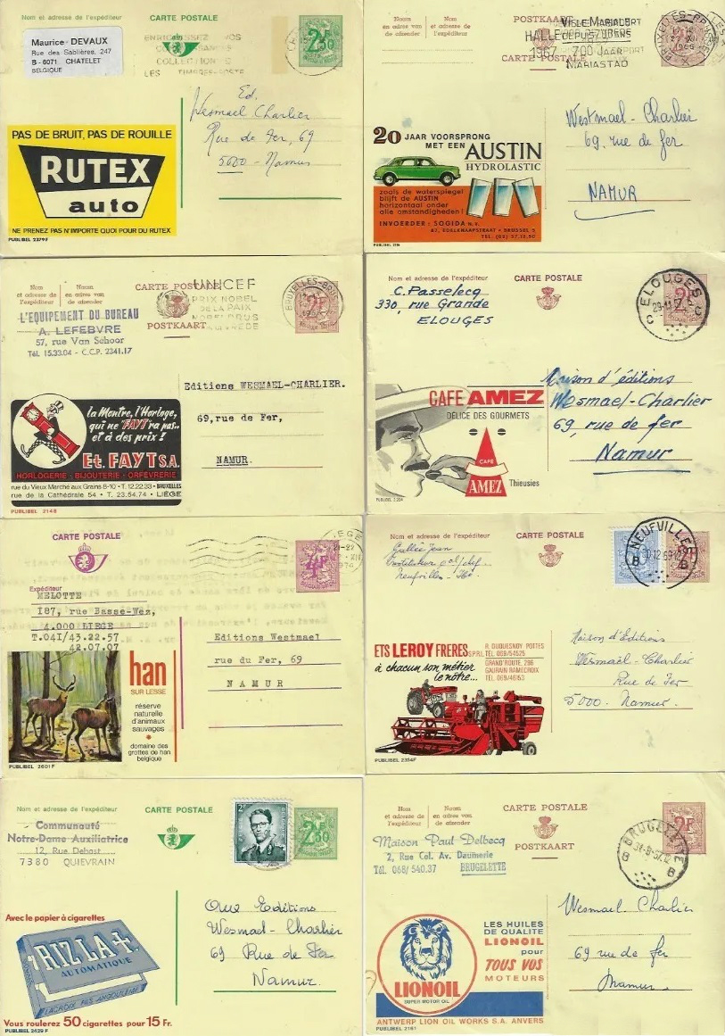 entiers postaux belges