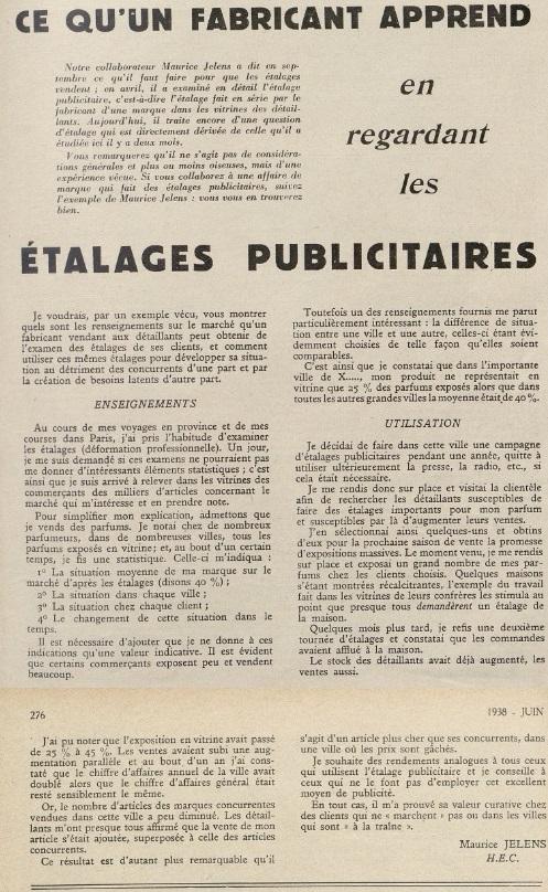 jelens A Juin 1938 étalages