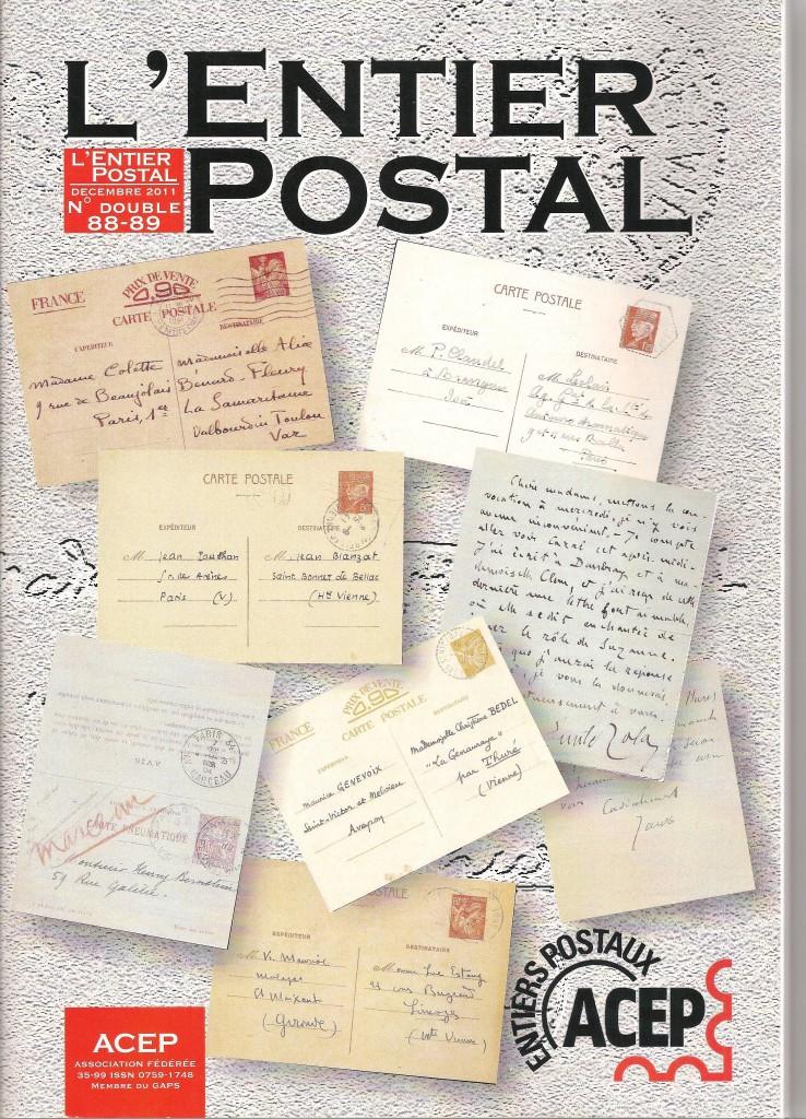revue l'entier postal
