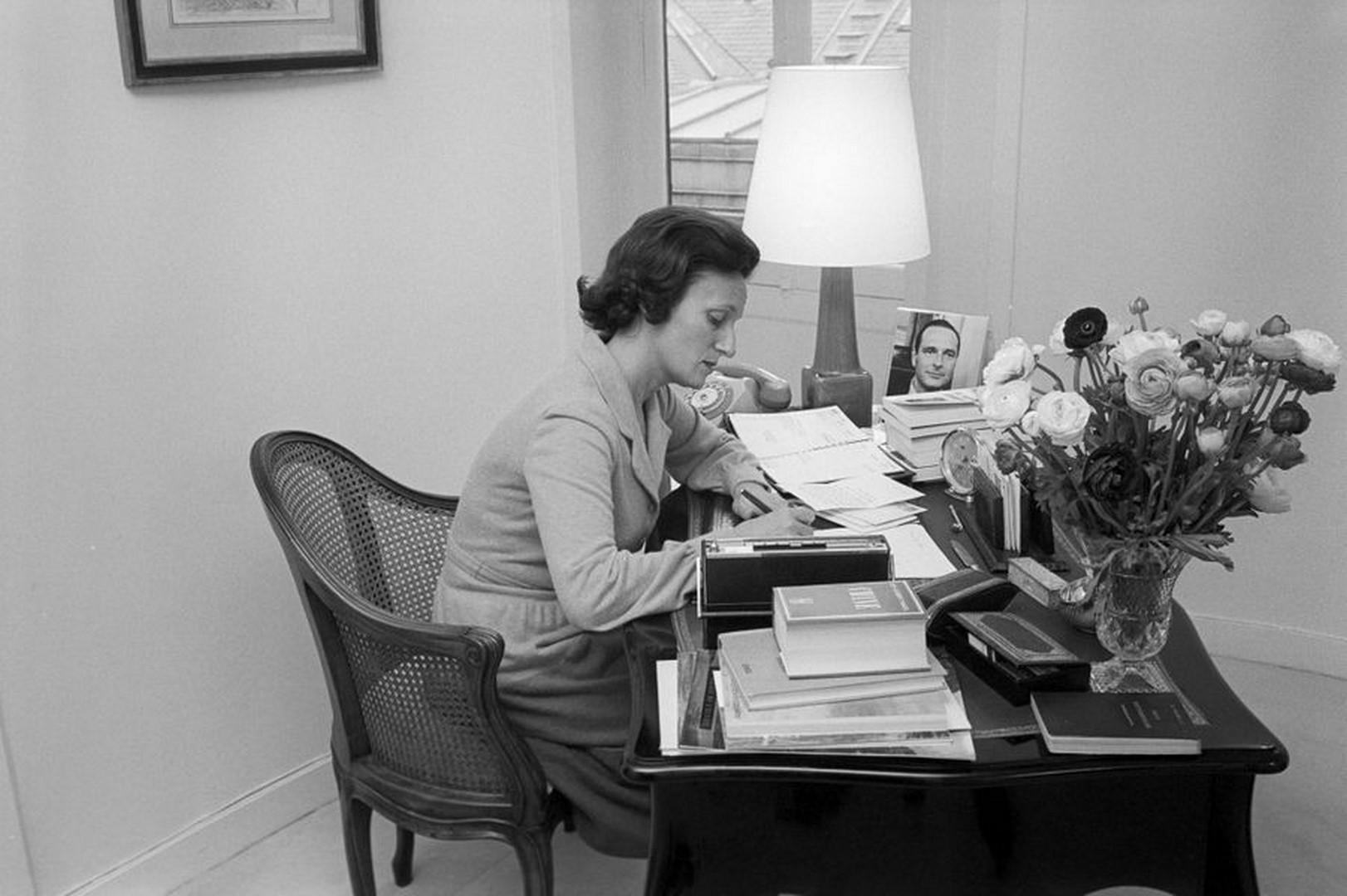 Bernadette Chirac Paris-en-novembre-1974