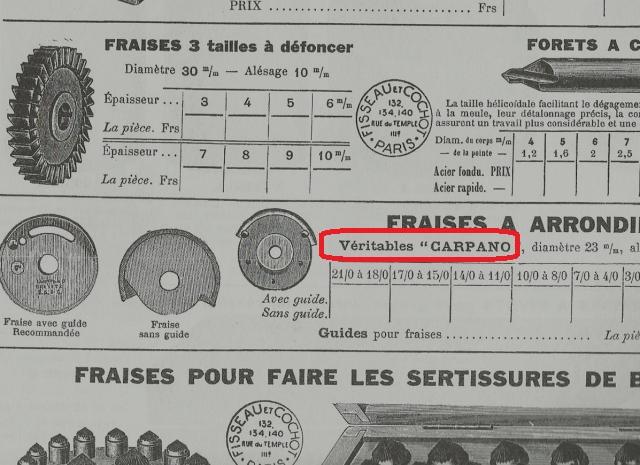 catalogue Fisseau et Cochot