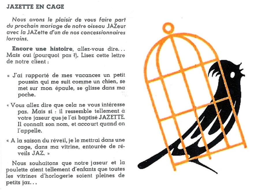 jazette en cage