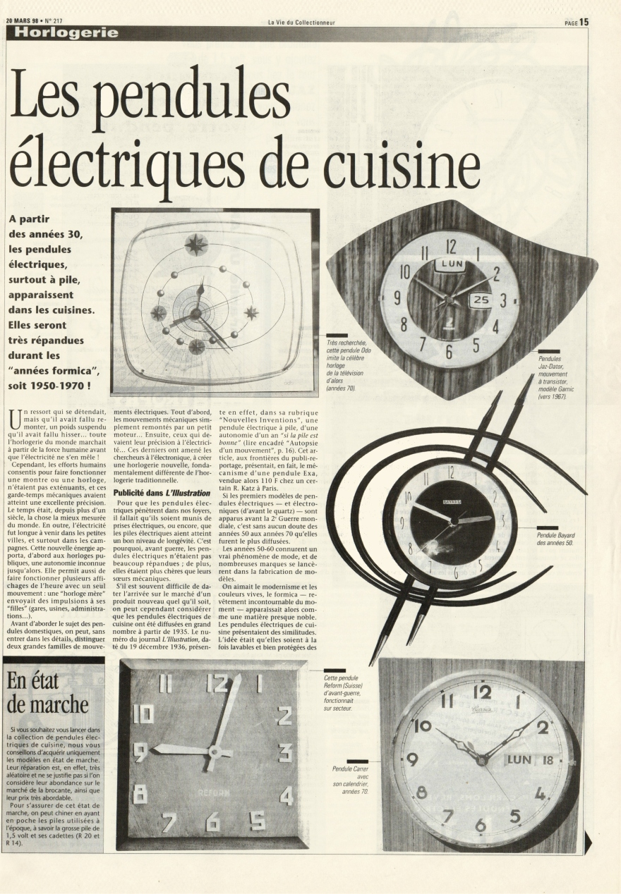 La vie du collectionneur n°217 Mars 1998 page 15 b