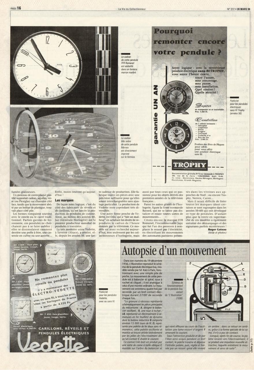 La vie du collectionneur n°217 Mars 1998 page 16a