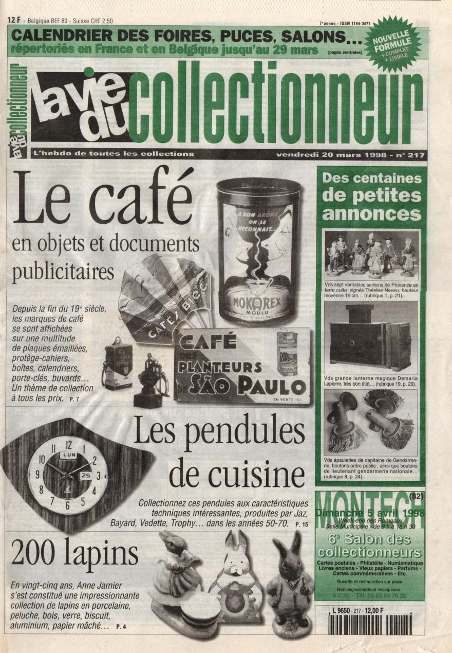 La vie du collectionneur n°217 Mars 1998