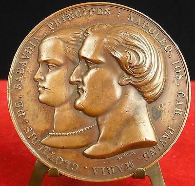 Médaille-Mariage-du-Prince-Napoléon-et-de-Clotilde