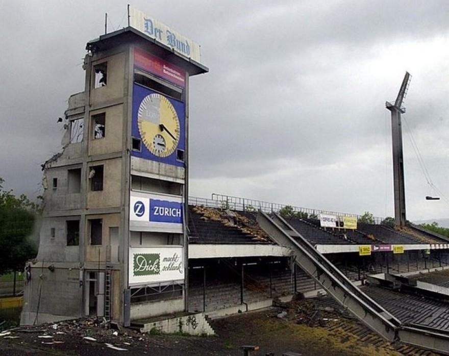 Sprengung Wankdorf Stadion
