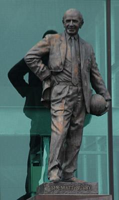 Statue von Sir Matt Busby