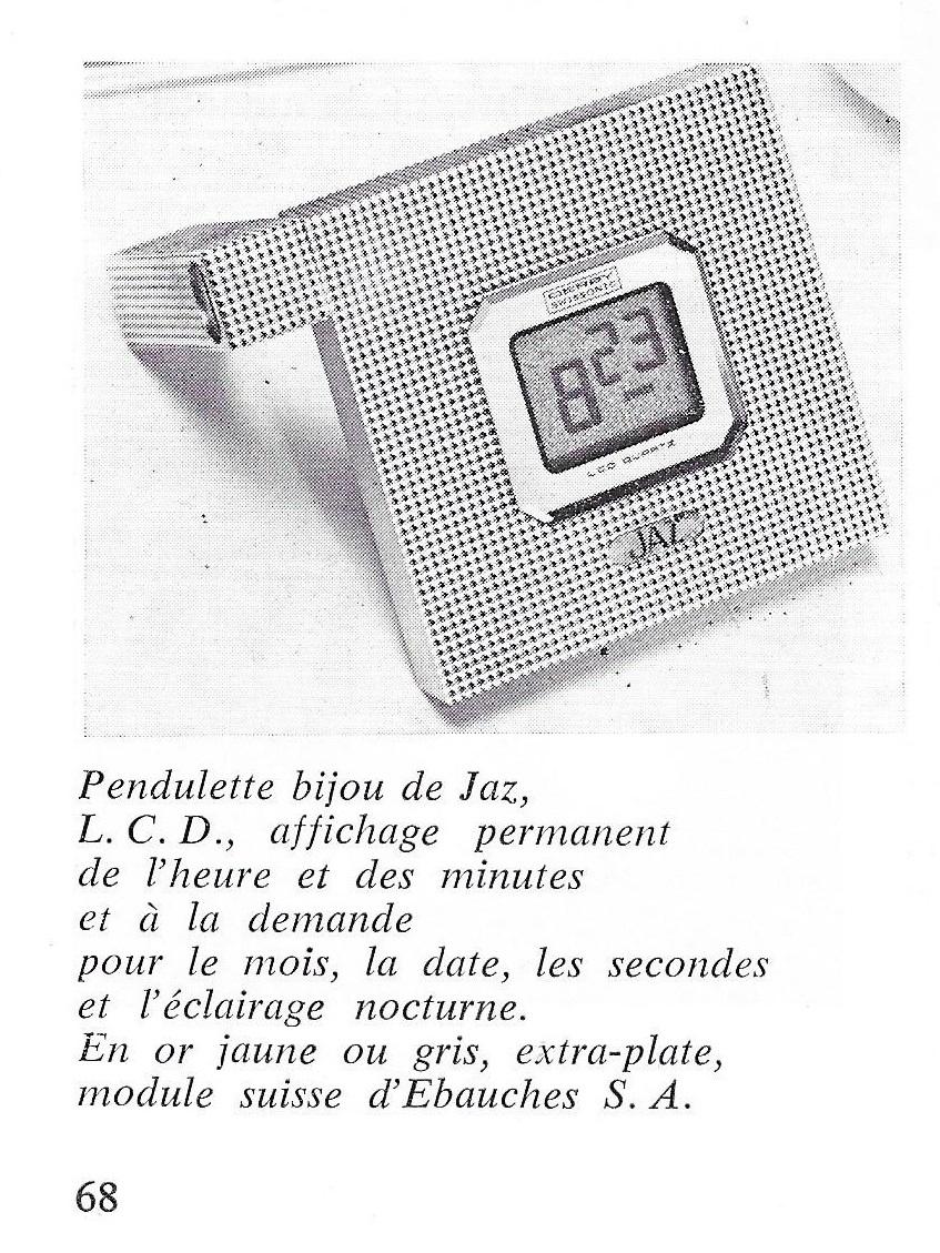 La France Horlogère n°386 Fevri 1978 pendulette or